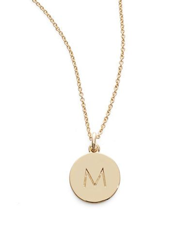 kate spade new york one in a million pendant letter necklace