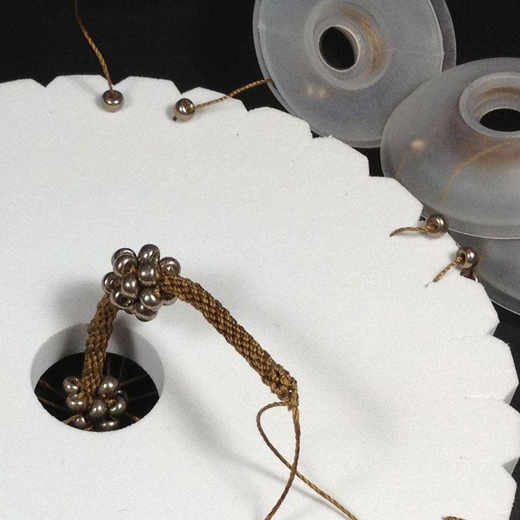 kumihimo with bead clusters
