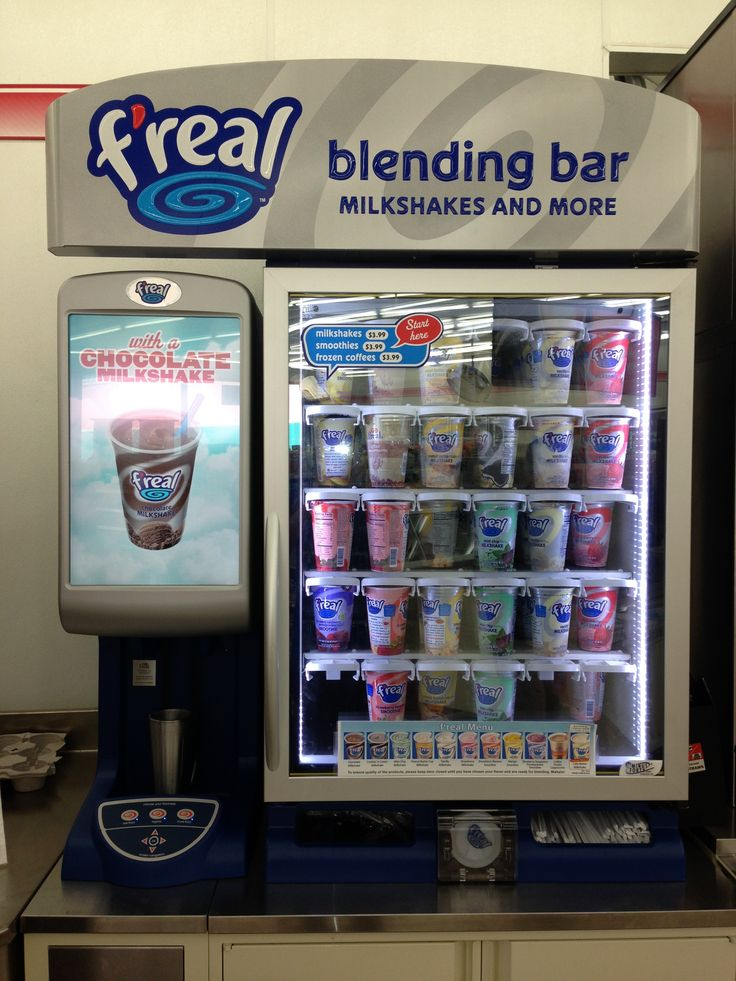 Image result for f'real milkshakes and machine