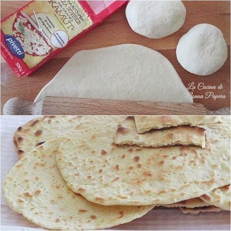 Piadina con farina di kamut ricetta bimby