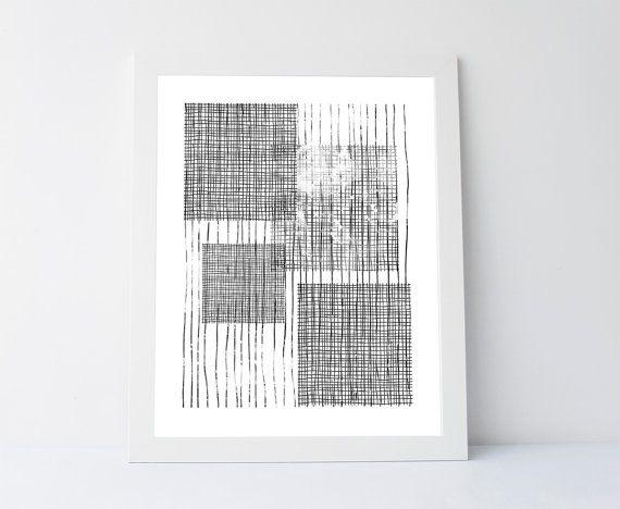 Black net print minimalist abstract print by PrintableGiftIdeas