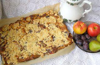 W Mojej Kuchni Lubię.. : bez wyrastania ciasto drożdżowe owocowe z kruszonk...