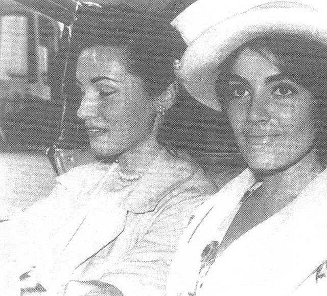 Princess Fawzia and her daughter princess Shahnaz Pahlavi