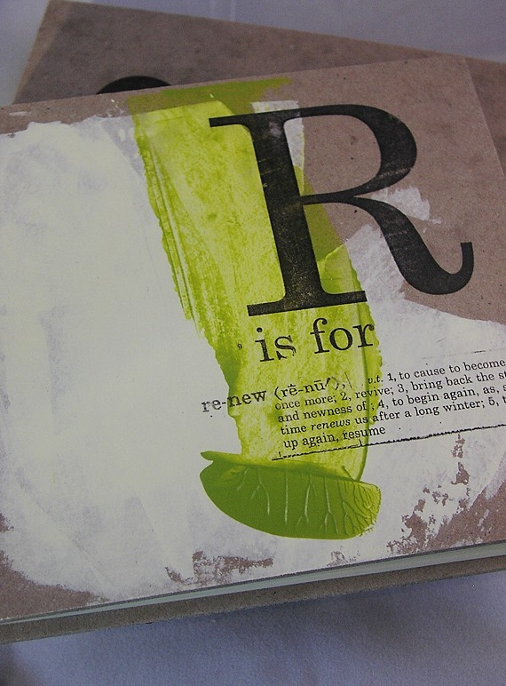 handmade journal   r is for renew