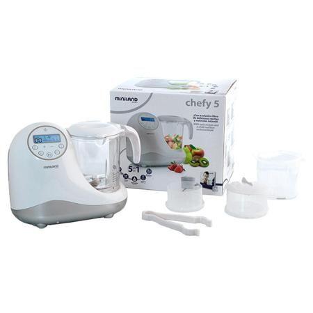 Многофункциональный кухонный комбайн Chefy 5 Silver  — 11010р. - 5 функций в 1: Быстро нагревает детские бутылочки и контейнеры для детского питания любого размера и формы. Стерилизует бутылочки и аксессуары. Готовит и нагревает еду на пару, 2 уровня под разные виды блюд, сохраняет питательные вещества продуктов. Размораживает. Измельчает, 2 скорости под разные виды продуктов. Включает 3 отсека для раздельного приготовления продуктов. Легко разбирается и очищается. Большой стакан (1л) может…