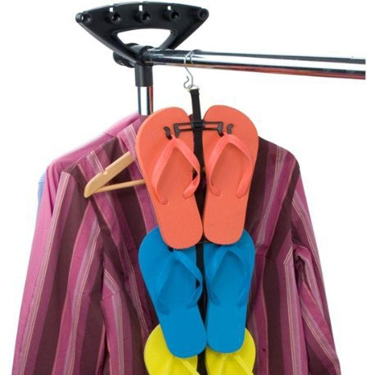 adjustable flip flop hanger plastic display organizer shoe slipper scandle closet wall door scarves necklace belt