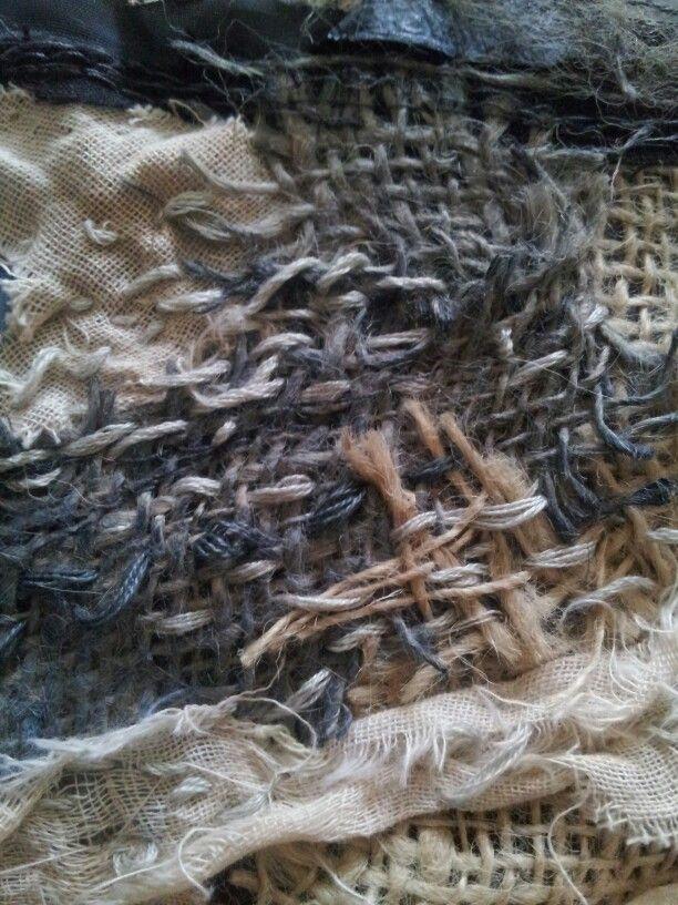 Bamburgh Castle - detail. Laura Edgar #textile art www.lauraedgar.co.uk