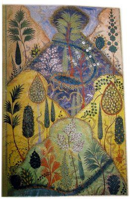 """Persian; from the """"Seven Poets Anthology"""" of 1398: a magical mountain in an everlasting spring"""
