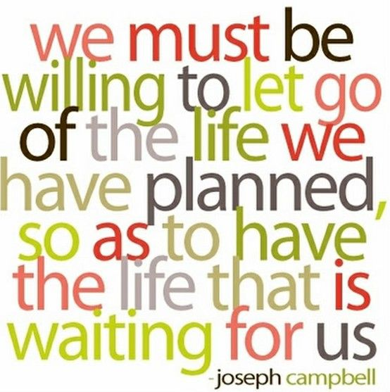 Life: God Plans, Remember This, Life Lessons, Life Quote, The Plans, Letgo, So True, Joseph Campbell, True Stories