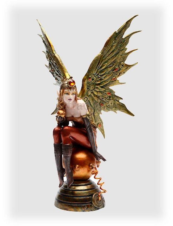 steam punk fairies | home steampunk sarah steampunk fairy figurine part number 59068