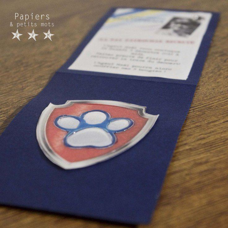 Faire-part Invitation Pat Patrouille pour un anniversaire de 3 ans ! (Paw Patrol)