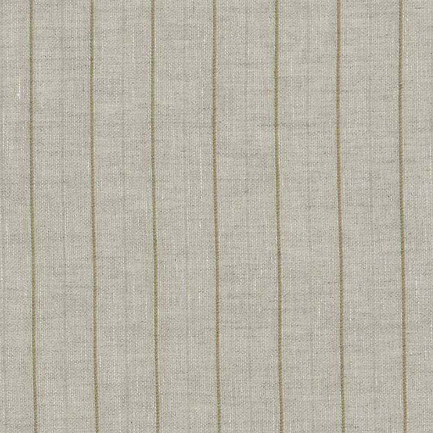 Ellsbury Linen with Green Stripe Curtains | Crate and Barrel