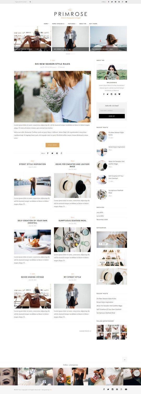 Wordpress theme wordpress template Feminine by MaiLoveParis