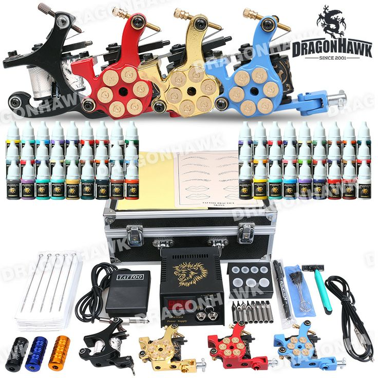 Professional Tattoo Kit 4 Machine Gun Power Supply 56 Color Inks Professional Tattoo Kit D176 for sale [D176DTT(4.0)] - US$121.00 : Dragonhawk tattoo supplies, tattoo kits,tattoo machines for sale global form tattoodiy.com