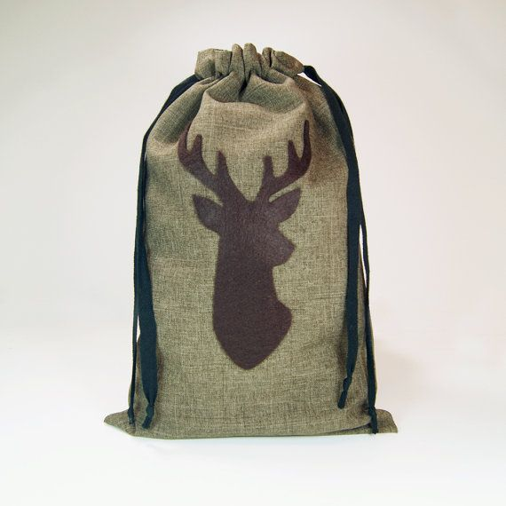Oh deer! Planning a woodland wedding? Handmade, reusable gift bags for your groomsmen, ushers & dads.