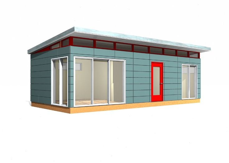 14 x 30 modern shed 420 sq ft prefab shed kit provided for Contemporary shed kit