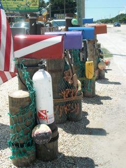 nautical mailbox | Rustic Nautical Mailboxes, Rustic Nautical Anchor Piling, Nautical ...
