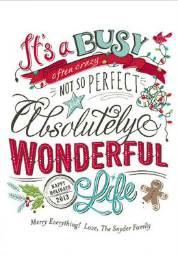 It S A Wonderful Life Gift Wring Pinterest Holidays And Christmas Cards