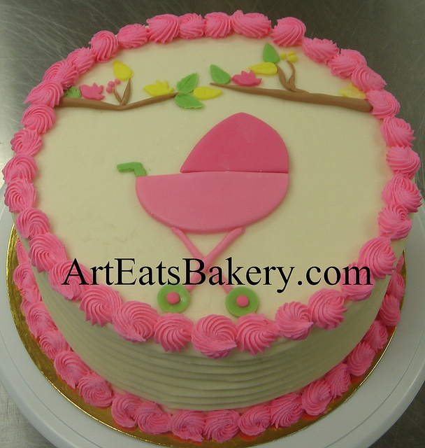 Fondant Cake Designs For Baby Girl : 17 Best images about BUTTER CREAM BABY SHOWER CAKES on ...