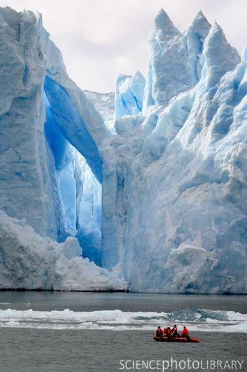 Glaciar San Rafael en la Región de Los Lagos.