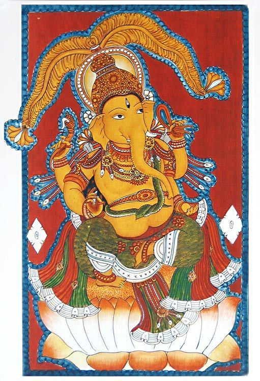 461 best images about ganesha on pinterest hindus shri for Mural art of ganesha