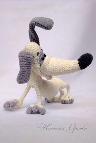 Таксик - Вязаные ребетёнки - Галерея - Форум почитателей амигуруми (вязаной игрушки)