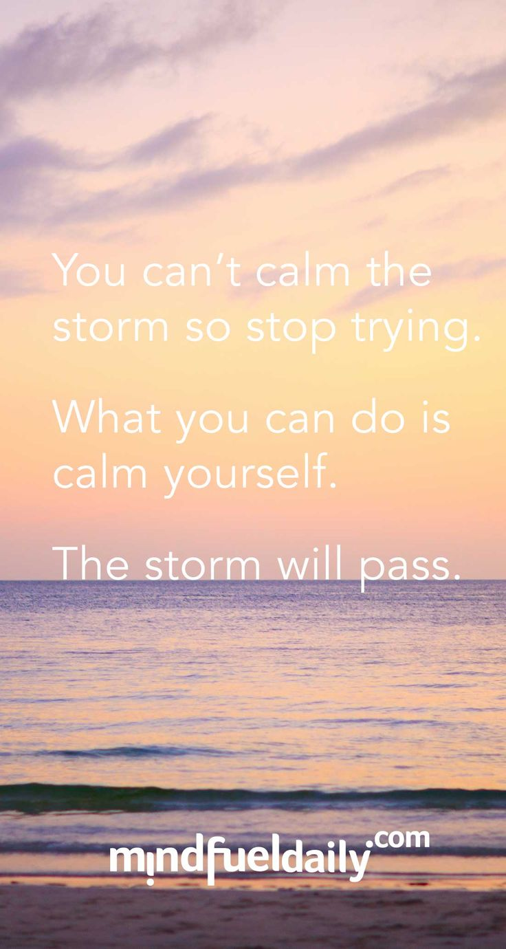 Calm yourself; the storm will pass.