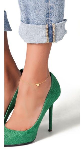 Jennifer Zeuner Jewelry Butterfly Anklet