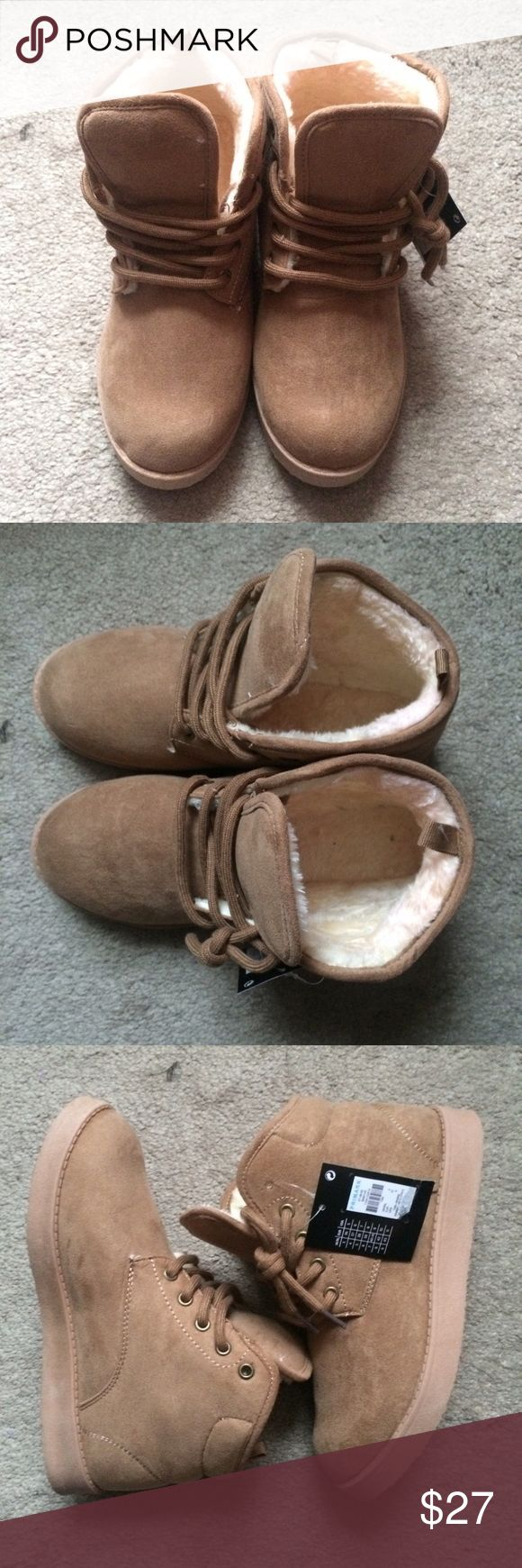 NWT Tan Booties similar to uggs Neumels It's very comfy and extra cute! Any pair bought before ***Sunday December 11, will ship Monday!*** any shoe purchased after December item will ship on Thursdays due to me getting the shoes! Primark Shoes Ankle Boots & Booties