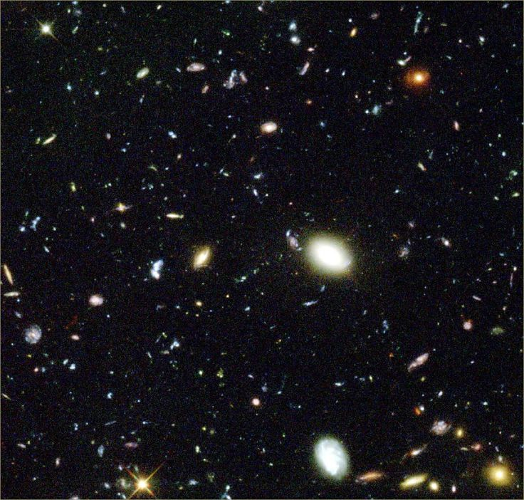 Galaktyki, at this observational distance every point of light is an entire galaxy! Not a gwiazda.