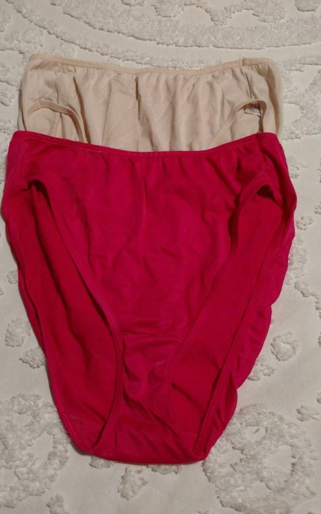 f501e645609f Vintage Vassarette Hi-Cut Panties Style # 14-826 Size 9 - 2 pr. Beige & Hot  Pink #Vassarette #BriefsHiCuts #Everyday