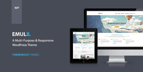 Emulate: Multi-purpose Responsive WordPress Theme (Business)   Web Templates Database #templates