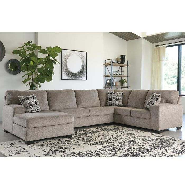 Ashley Ballina Platinum Chenille Sectional Weekends Only