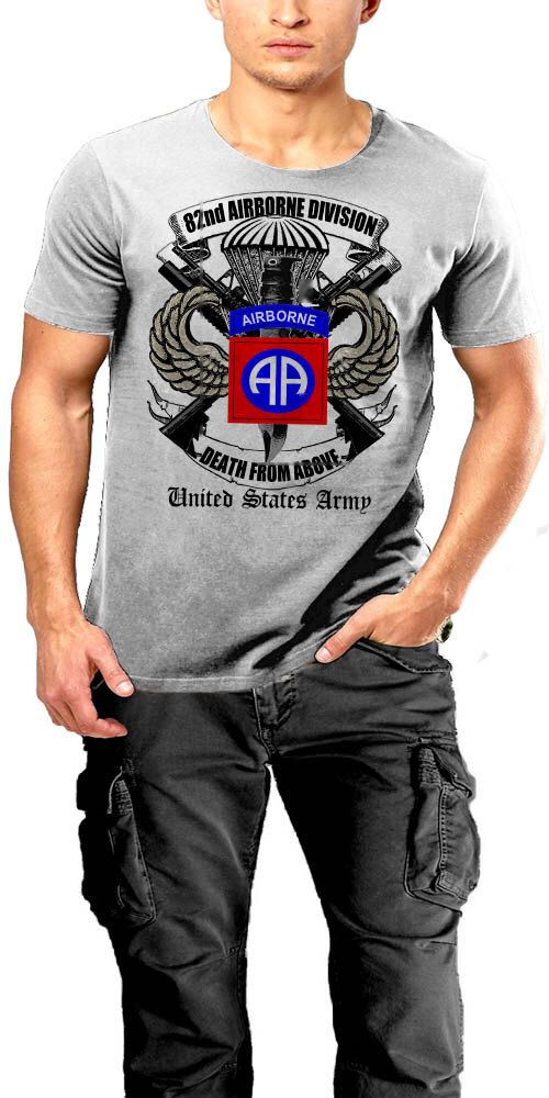 US Army Air 82nd Airborne Division All American Death From Above Men Cotton Tee by WarfaceApparel on Etsy https://www.etsy.com/listing/513565501/us-army-air-82nd-airborne-division-all