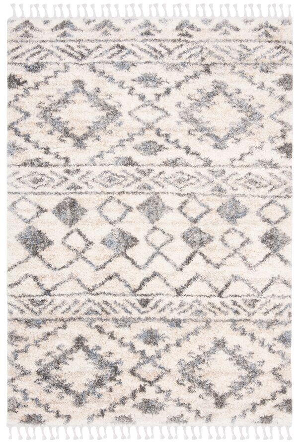 Triplett Fringe Shag Cream Gray Area Rug Area Rugs Grey Area Rug Rugs