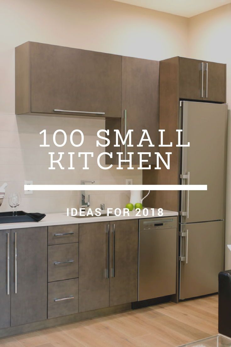 A Small Kitchen Idea With Stainless Appliances Brown And Rustic