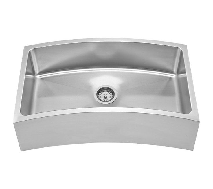 Stainless Farmhouse Sink 32 Single Bowl Curved