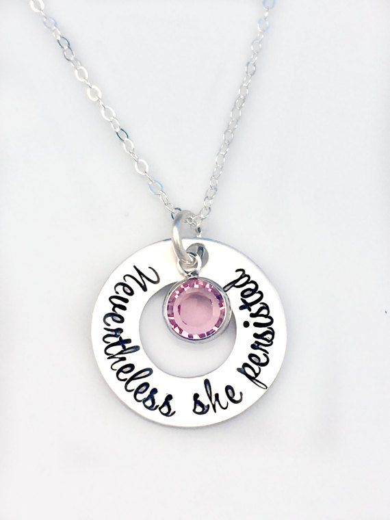 Nevertheless She Persisted Necklace  by 3LittlePixiesShoppe