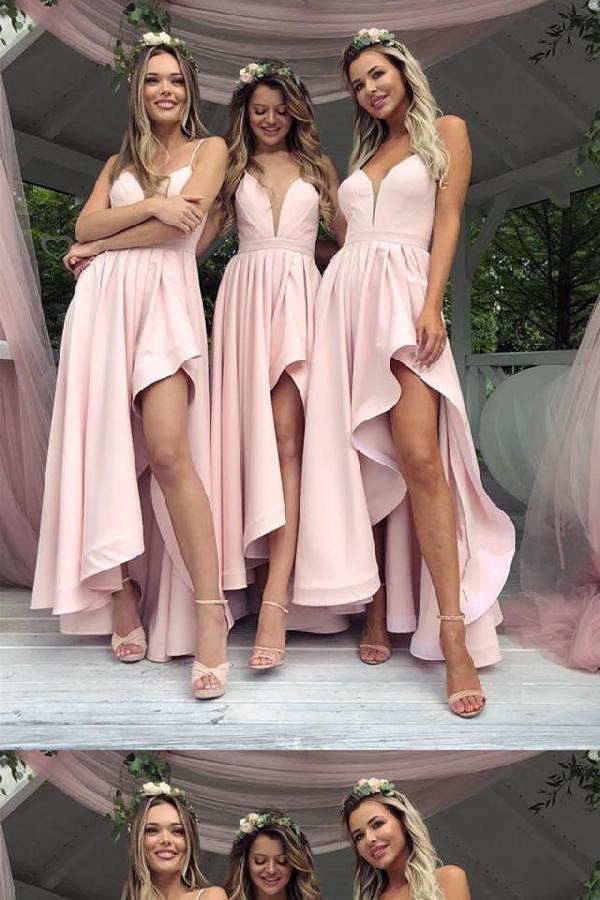 Customized Comely V Neck Bridesmaid Dress, Prom Dresses 2019, Unique Bridesmaid Dress