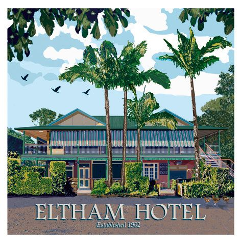 Eltham Hotel, Northern Rivers, NSW. The Eltham Hotel is classic heritage Australian country pub, nestled in the historic Eltham Valley, by the Richmond River.  Built in 1902, the gracious building remains a favourite meeting place for locals and visitors.