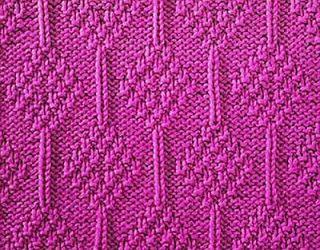 Knitting Galore: Moss Stitch Diamonds knit and purl stitch patterns