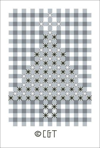 Chicken Scratch Christmas Tree Design © 2008 Connie G. Barwick, licensed to About.com, Inc. #freechickenscratch