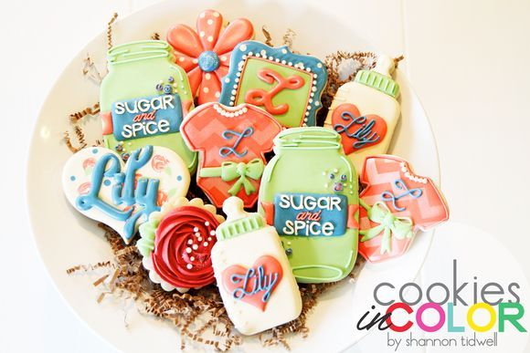 Baby Shower Cookies   Cookies In Color   Shannon Tidwell