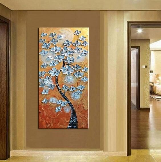 Hand Painted Flower Oil Painting On Canvas Home Decoration Wall Painting Wall Art Painting Modern Wall Art Home Decor Paintings Oil Painting Flowers
