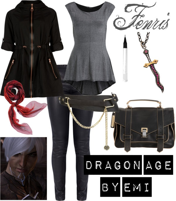 """Dragon Age - Fenris"" by emi-watson on Polyvore  Girly fenris, and he would be so mad seeing this XD"