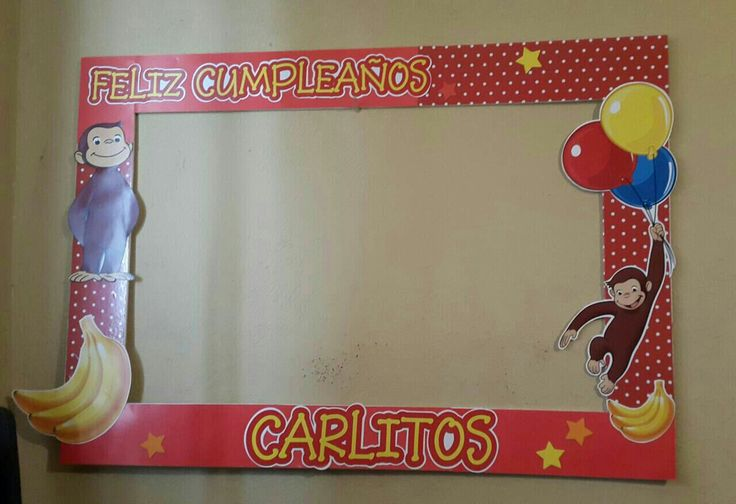 Curious George Frame birthday party