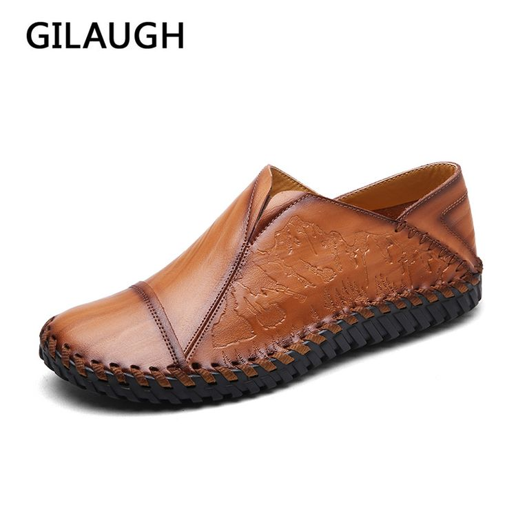 GILAUGH Brand Fashion Spring and Autumn Style Moccasins High Quality Leather Shoes Men Flats Casual Driving Men shoes #Affiliate