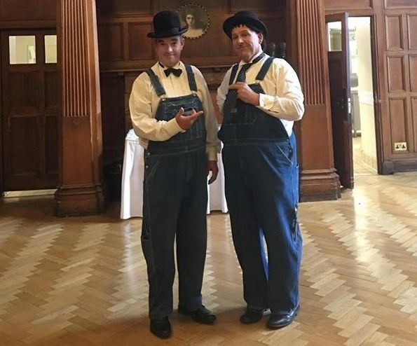Laurel and Hardy Lookalikes / Meet, Greet, Mix & Mingle with close-up magic - Tel: 07977 008 546 / graham-rob@sky.com