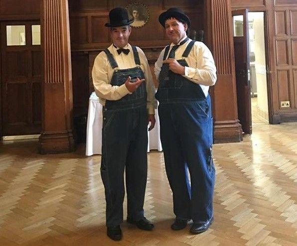 Laurel and Hardy Lookalikes / Meet, Greet, Mix & Mingle with close-up magic - Tel: 07977 008 546 / graham-rob@sky.com