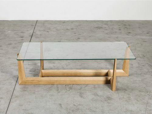 Small Glass Top Coffee Tables Wooden Base